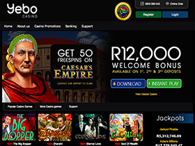 Play at Yebo Casino on Your Desktop or Mobile Device